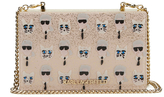 Karl Lagerfeld Women's The Artist Minaudiere Clutch Bag Nude
