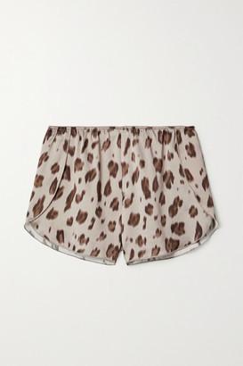 Anine Bing Jade Leopard-print Silk-satin Pajama Shorts - Leopard print