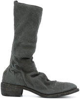 Guidi soft high boots - men - Linen/Flax/Leather - 40