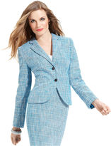 Calvin Klein Jacket, Tweed Two-Button Blazer