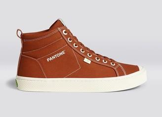 Cariuma OCA High Pantone Picante Canvas Contrast Thread Sneaker Women