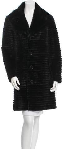 Michael Kors Mink and Leather Reverisble Coat