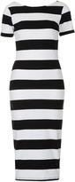 Topshop Big Stripe Midi Dress