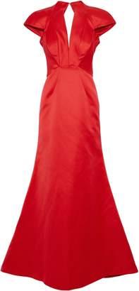 Zac Posen Open-back Satin Gown