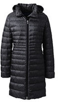 Lands' End Women's Petite Lightweight Down Coat-Black Print