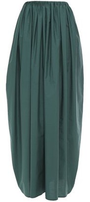 Brunello Cucinelli Gathered Crinkled Cotton-poplin Maxi Skirt