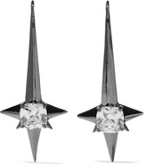 Noir Naos gunmetal-tone crystal earrings