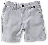 Hurley Baby Boys 12-24 Months One & Only Yarn-Dyed-Stripe Twill Walk Shorts