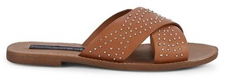 STEVEN NEW YORK Gaya Studded Leather Slides