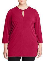 Lauren Ralph Lauren Plus Bell-Sleeve Jersey Tunic