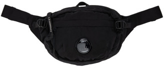 C.P. Company Black Nylon B Garment-Dyed Crossbody Pouch