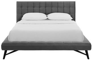 Brayden Studioâ® Burbank Biscuit Tufted Queen Upholstered Platform Bed Brayden StudioA Color: Light Gray