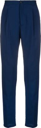 Emporio Armani Seersucker Wool Blend Trousers
