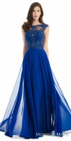 Morrell Maxie Embroidered Lattice Chiffon Evening Dress