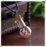 Flowers Hand-make Natural small dry chrysanthemum All over the sky Necklace