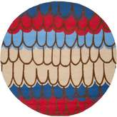Safavieh Kids® Patches 6-Foot Round Area Rug in Blue/Multi