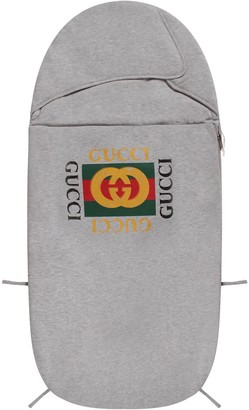 Gucci Grey Babykids Sleeping Bag With Logo