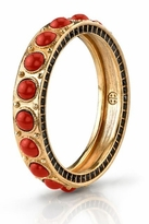 House Of Harlow Red Cabochon Stone Bangle