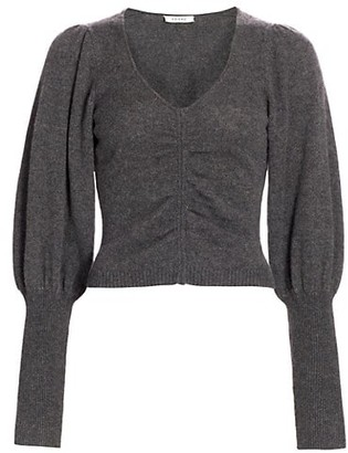 Frame Shirred Cropped Sweater