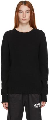 Palm Angels Black Wool Logo Sweater