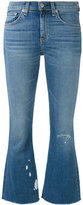 Rag & Bone Jean - flared cropped jeans - women - Cotton/Polyurethane - 25