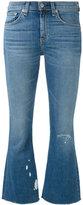 Rag & Bone Jean - flared cropped jeans - women - Cotton/Polyurethane - 25