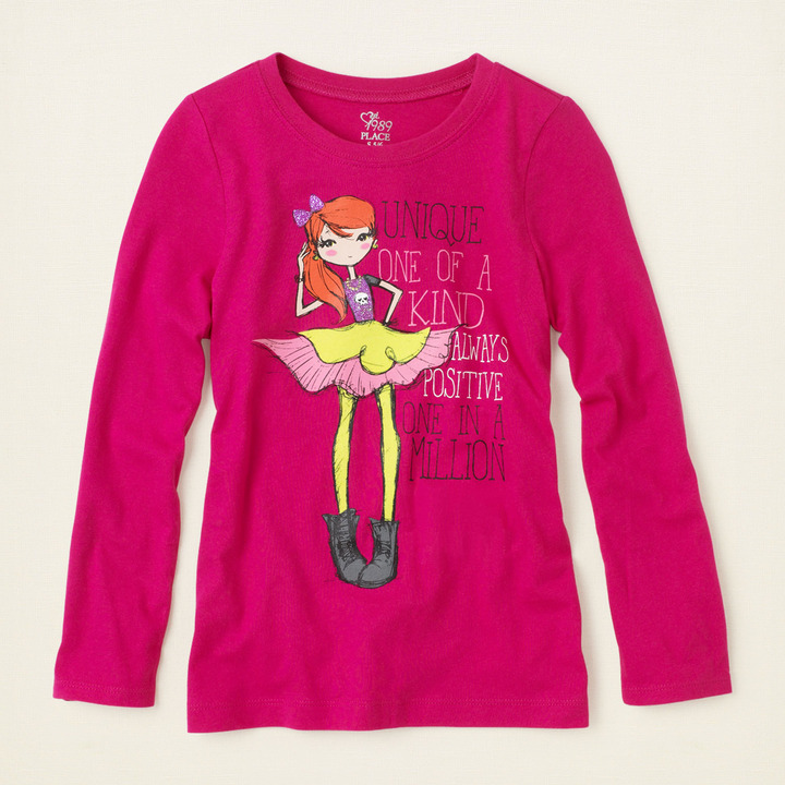 Children's Place Cool girl graphic tee