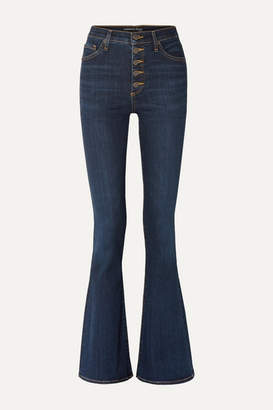 Veronica Beard Beverly High-rise Flared Jeans - Dark denim
