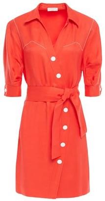 Sandro Kunga Satin-twill Shirt Dress