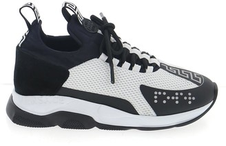 Versace Cross Chainer Lace Up Sneakers
