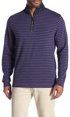 Bugatchi Striped Quarter Zip Pullover