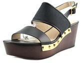 Louise et Cie Quincy Open Toe Leather Wedge Heel.