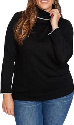 Court & Rowe Metallic Tipped Turtleneck Sweater