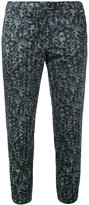 Woolrich embroidered cropped trousers - women - Cotton/Spandex/Elastane - 26