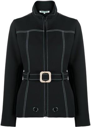 Kenzo Contrast-Stitch Belted Jacket