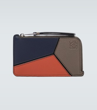 Loewe Puzzle coin leather cardholder