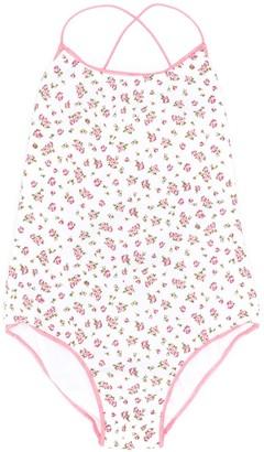 Oseree Kids Floral Print Swim Suit