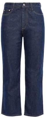 Simon Miller Cropped High-rise Straight-leg Jeans