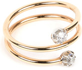 Annina Vogel 9 carat gold and diamond toi et moi ring