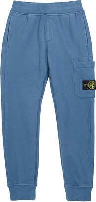 Stone Island Boy's Sweatpants w/ Thigh Pocket & Logo Patch, Size 8-10