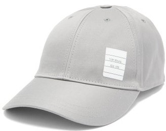 Thom Browne Label-appliqued Cotton-twill Cap - Grey