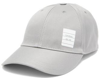 Thom Browne Label-appliqued Cotton-twill Cap - Mens - Grey