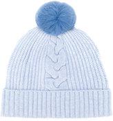 N.Peal fur bobble hat - women - Rabbit Fur/Cashmere - One Size
