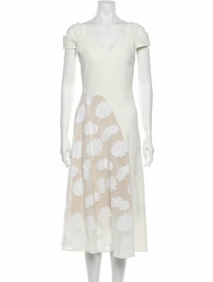 Roland Mouret Printed Midi Length Dress
