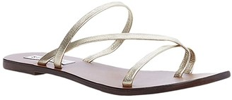 Steve Madden Janessa Flat Sandal (Gold Leather) Women's Shoes