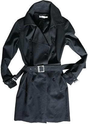 Pinko Black Cotton Coat for Women