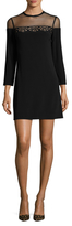 Sandro Ryde Lace Trim Fit And Flare Dress
