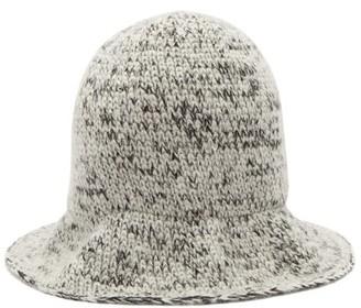 Reinhard Plank Hats - Elongated Wool Bucket Hat - Black And White
