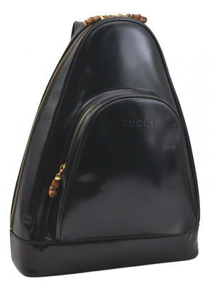 Gucci Navy Patent leather Handbags