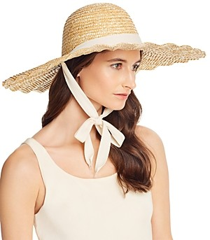 LACK OF COLOR Dolce Scalloped Straw Sun Hat